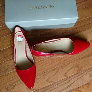 Franco Sarto Red Flats